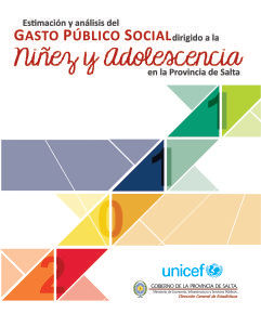 Estimación y Análisis del Gasto Público dirigido a la Niñez y Adolescencia en la Provincia de Salta
