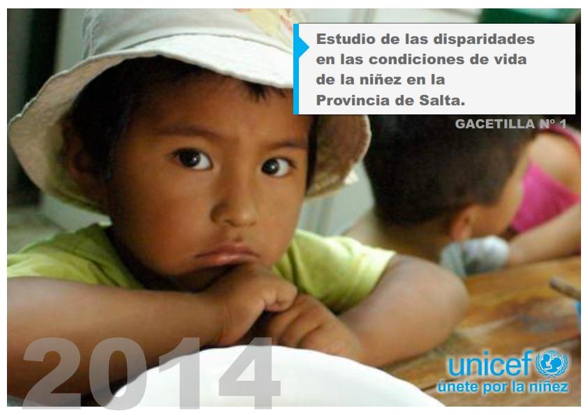 Estudio de las disparidades en las condiciones de vidas de la niñez en la Provincia de Salta